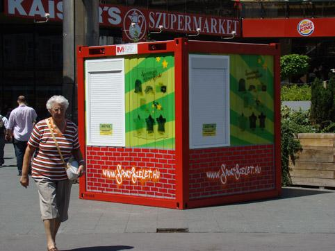 Promo containers- Sport szelet brand